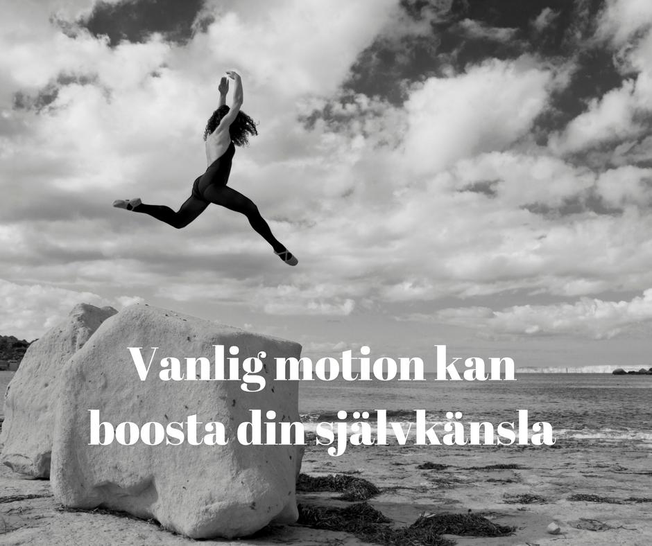 Vanlig motion kan boosta din självkänsla